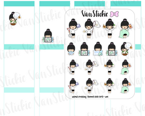 VSC 105| Animal Crossing chibis vr.1 Planner Stickers
