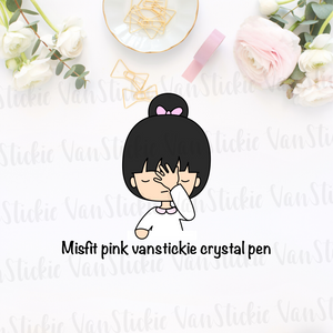 MISFIT Limited Vanstickie Pink Crystal Pen - 0.5 gel ink