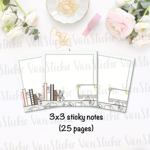 "3x3"" Desktop Sticky Note Pad (Notes 25 Pages)"