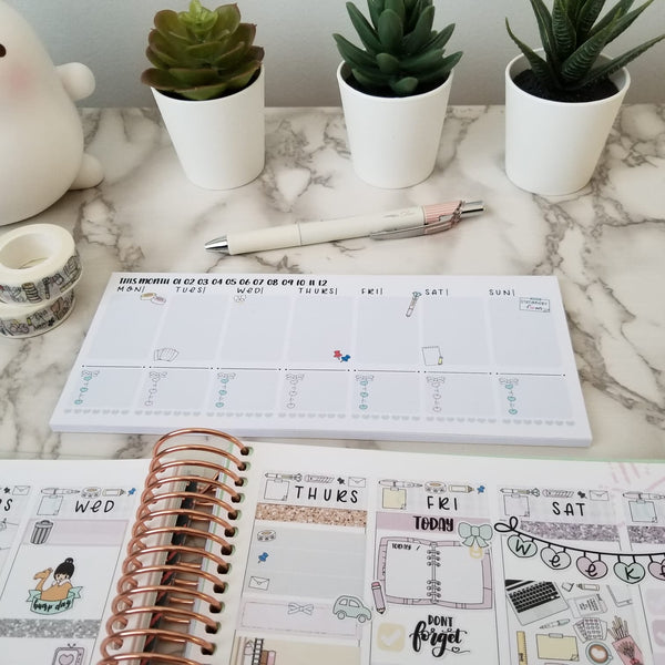 Stationery Lover Weekly Notepad