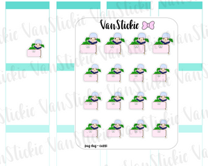 VSO 012 | Pay Day - Ombre Haired Chibit Planner Stickers