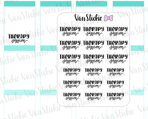 W064| Hand Lettering Stickers - Therapy session