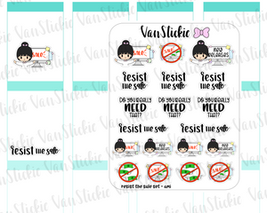 VSS 059 | Chibits Set - Resist the sale Planner Stickers
