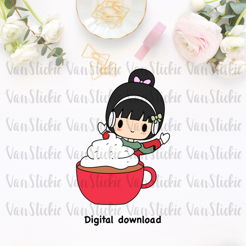 DIGITAL DOWNLOAD - Yay for hot cocoa