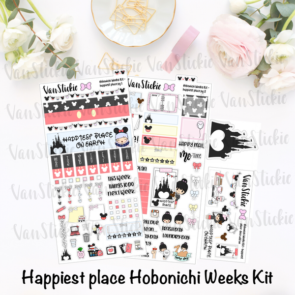 "Hobonichi Weeks Kit - ""Happiest Place"""
