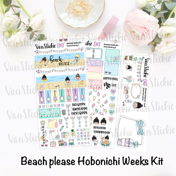 "Hobonichi Weeks Kit - ""Beach Please"""