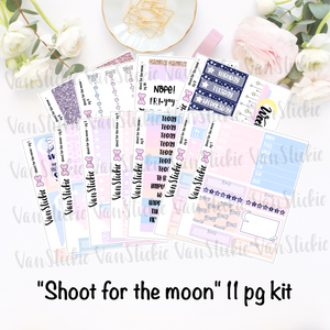"""Shoot for the moon"" - sticker kit (11 pages of quarter sheets)"