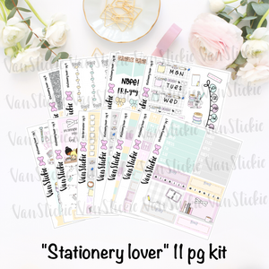 """Stationery Lover"" - sticker kit (11 pages of quarter sheets)"