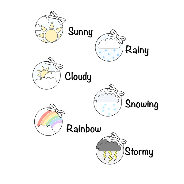 F014 - Circular weather icon Stickers