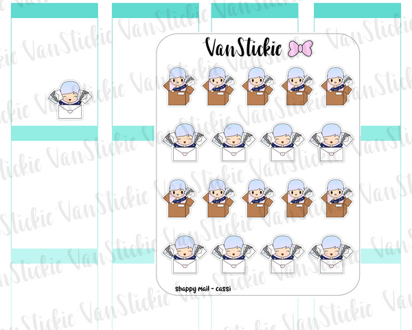 VSO 016 | Happy Mail - Ombre Haired Chibit Planner Stickers