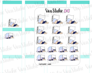 "VSO 030 | ""i surrender"" - Ombre Haired Chibit Planner Stickers"