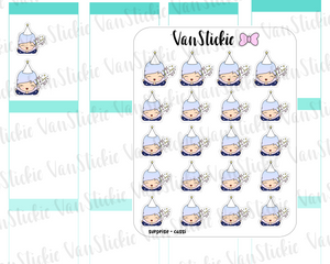 VSO 024 | surprise!! Ombre Haired Chibit Planner Stickers