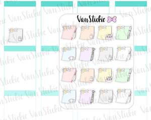 FC023 - Pastel mini sticky notes