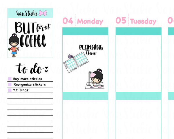VSS 002 | Chibit Set – A girl's Gotta Plan Planner Stickers