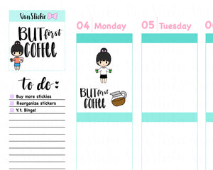 VSS 003 | Chibits Set – Coffee is LIFE Planner Stickers