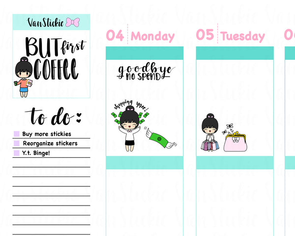 VSS 006 | Chibits Set – Shop Til I Drop Planner Sticker