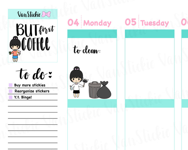 VSC 012 | Chibits - Do Your Chores Planner Stickers