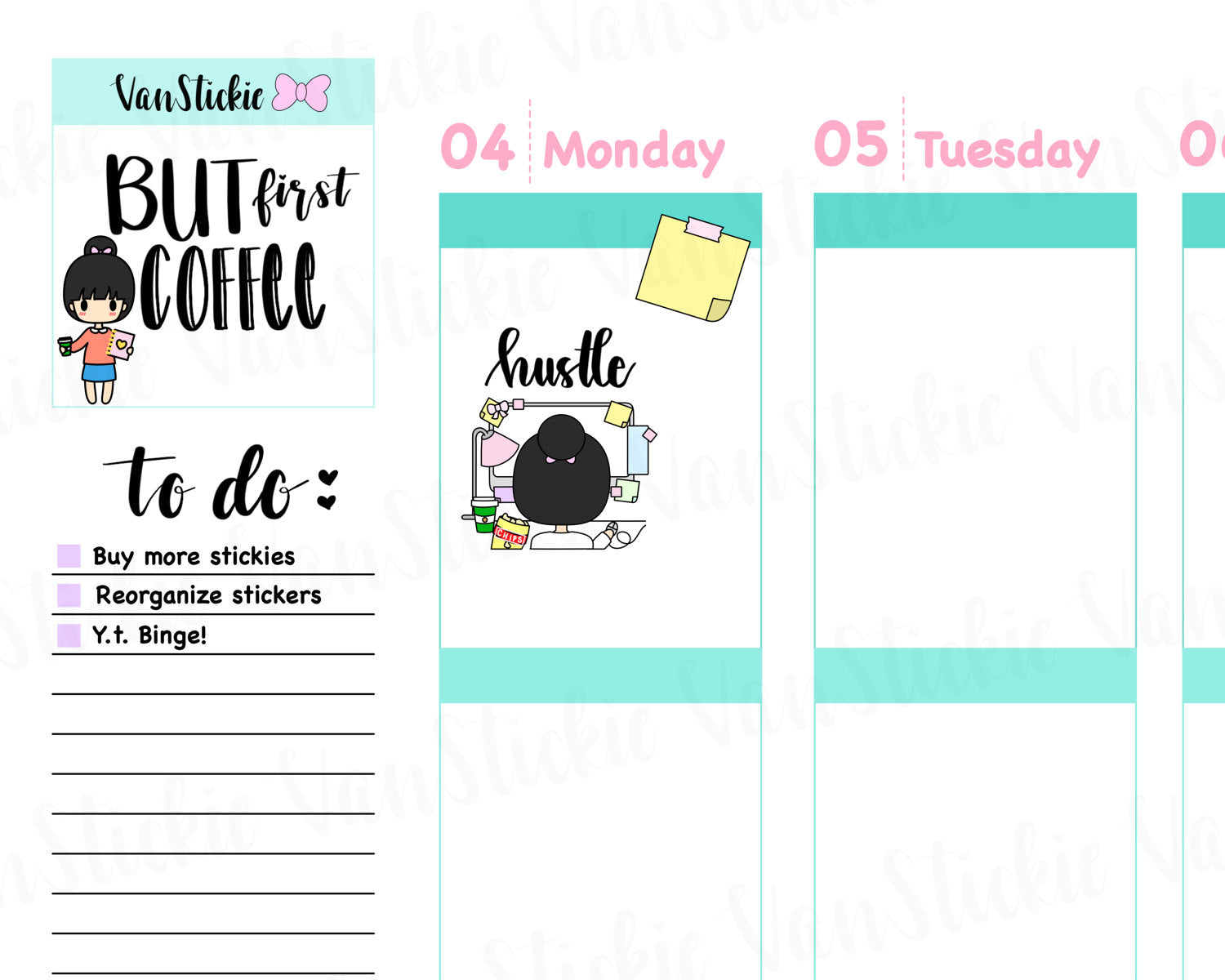 VSS 015 | Chibits Set - Computer Work Planner Stickers