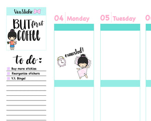 VSS 017 | Chibits Set - Bed Time Planner Stickers