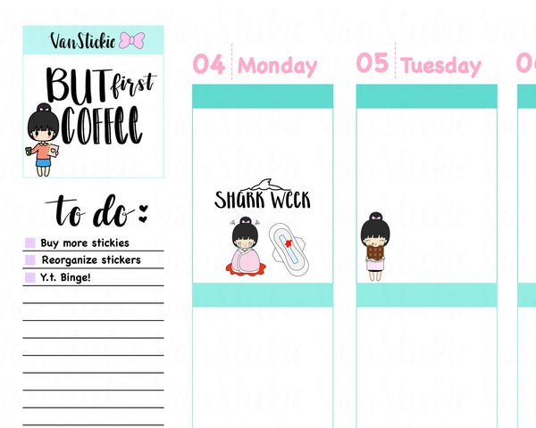 VSS 005 | Chibits – Code RED Planner Sticker Set