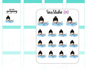 VSC 035 | Chibit -Swimming Planner Stickers