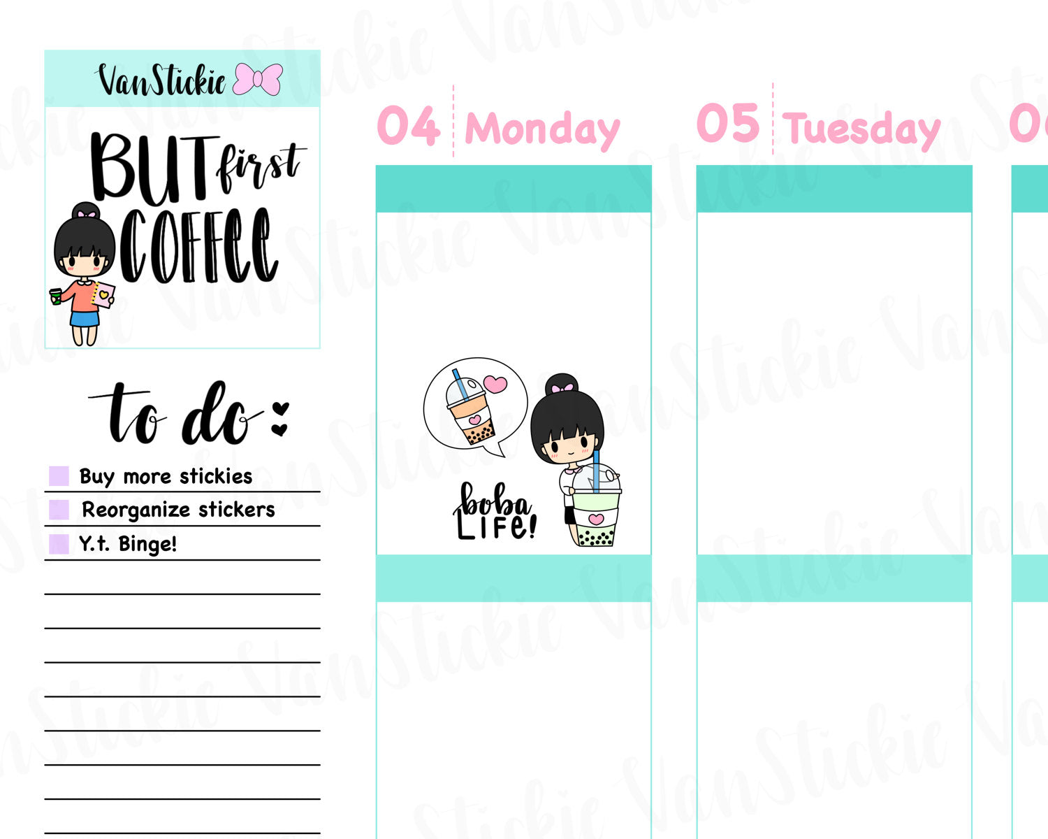 VSS 011 | Chibits Set – Boba Life Planner Stickers