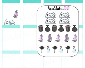 VSD 012| Doodle Set - Do your Chores Planner Stickers
