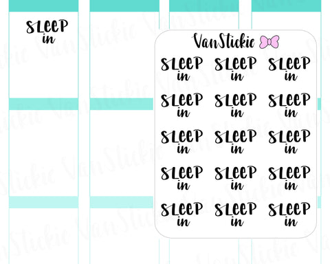 W001| Hand Lettering Stickers - Sleep In