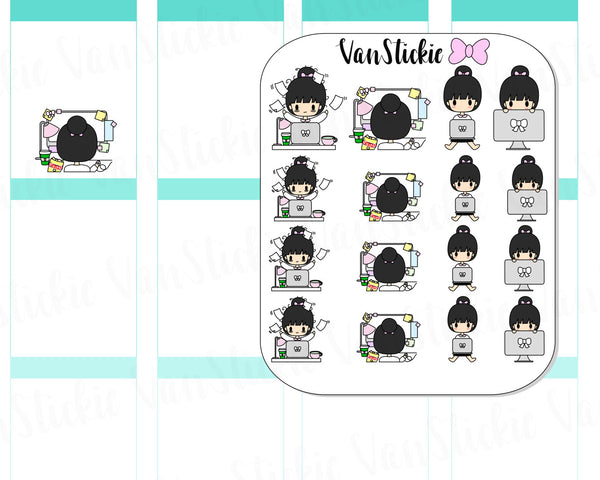 VSC 015 | Chibit - Computer Work Planner Stickers