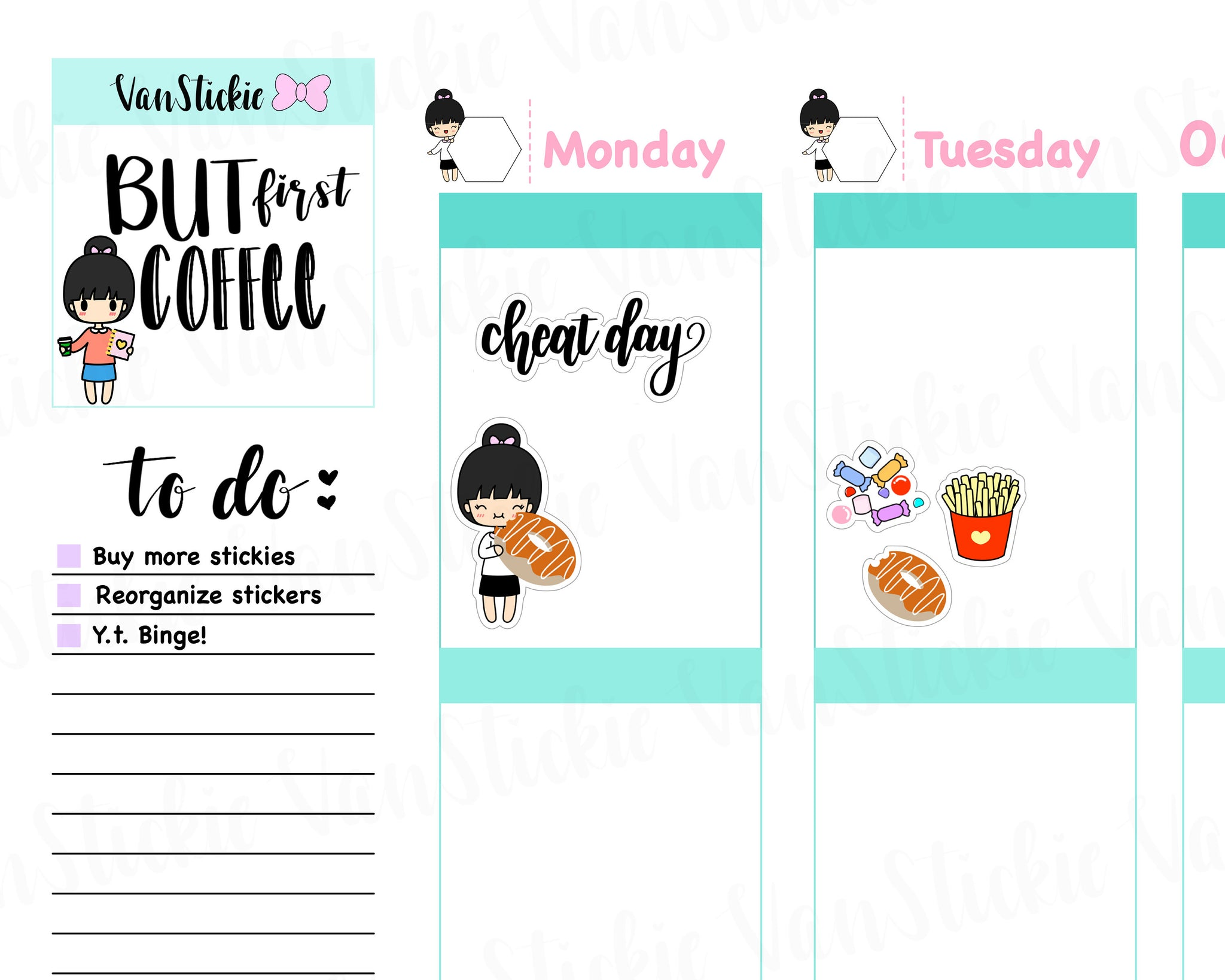 VSS 033|Chibit Set - Cheat Day Planner Sticker