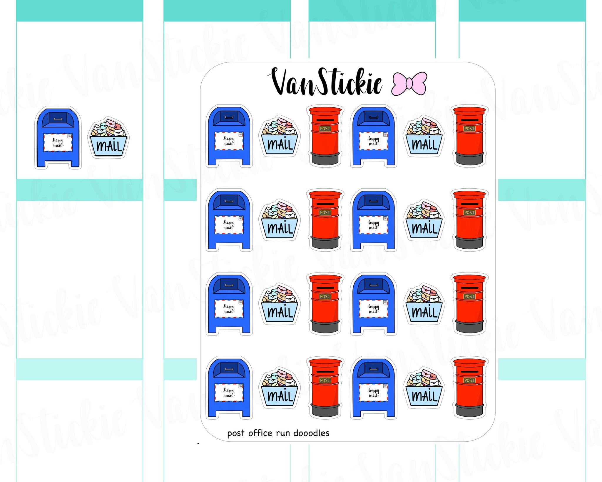 VSD 037| Doodle Set - Post Office Run Planner Stickers