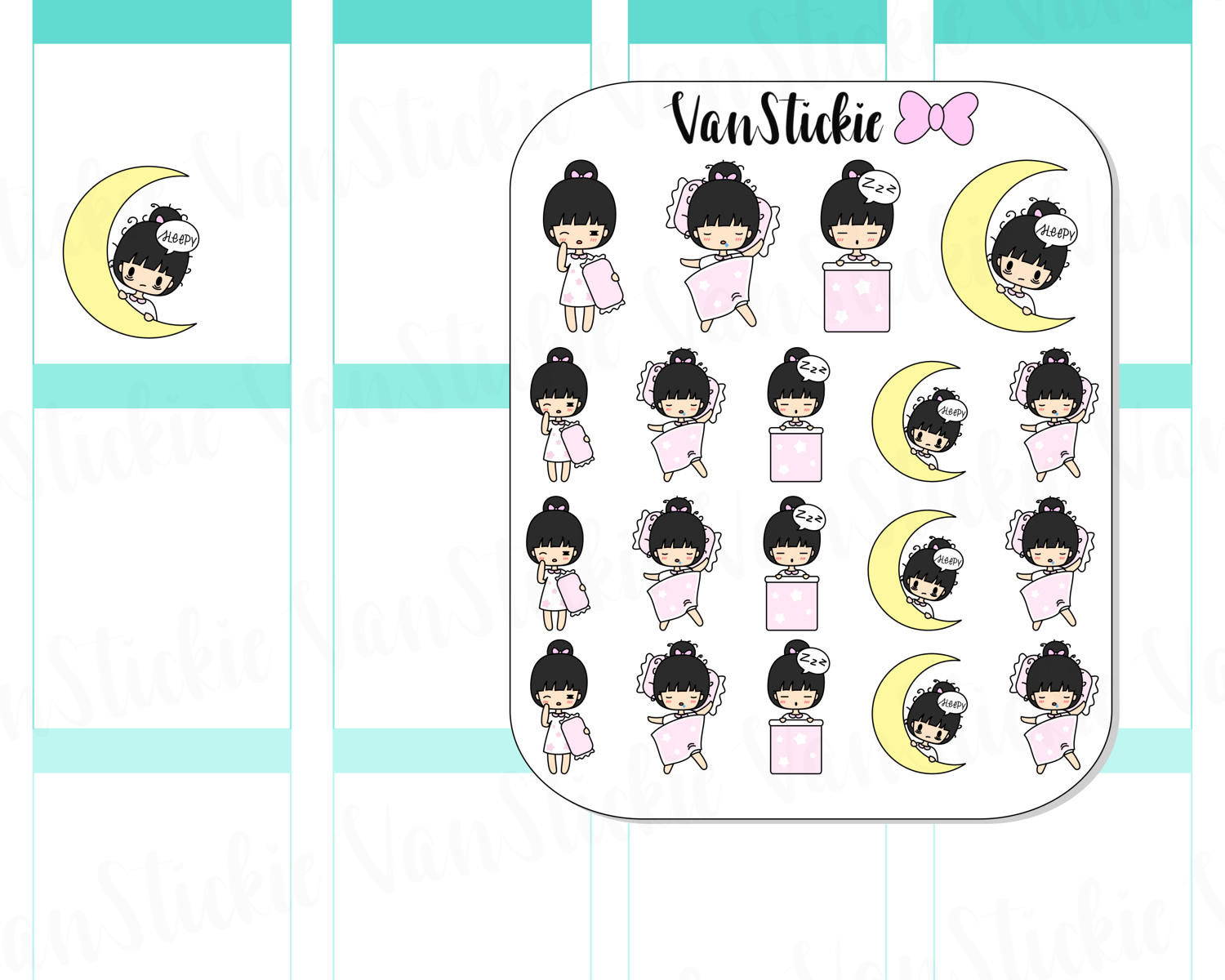 VSC 017 | Chibits - Bed time Planner Stickers