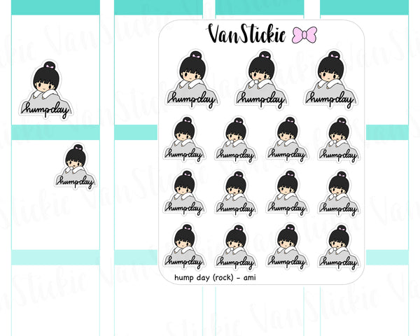 VSC 037 | Chibit - Hump Day (rock version) Planner Stickers