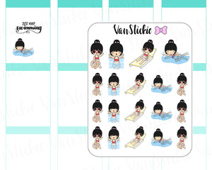 VSC 026 | Chibits - Pool Side Planner Stickers