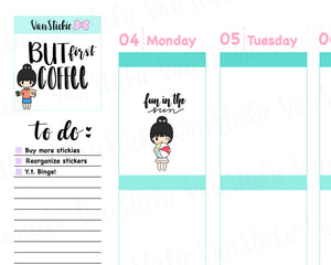 VSS 019 | Chibit Set - Life is a Beach Planner Stickers