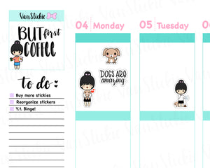VSS 024 | Chibits Set - Doggie Mama Planner Stickers