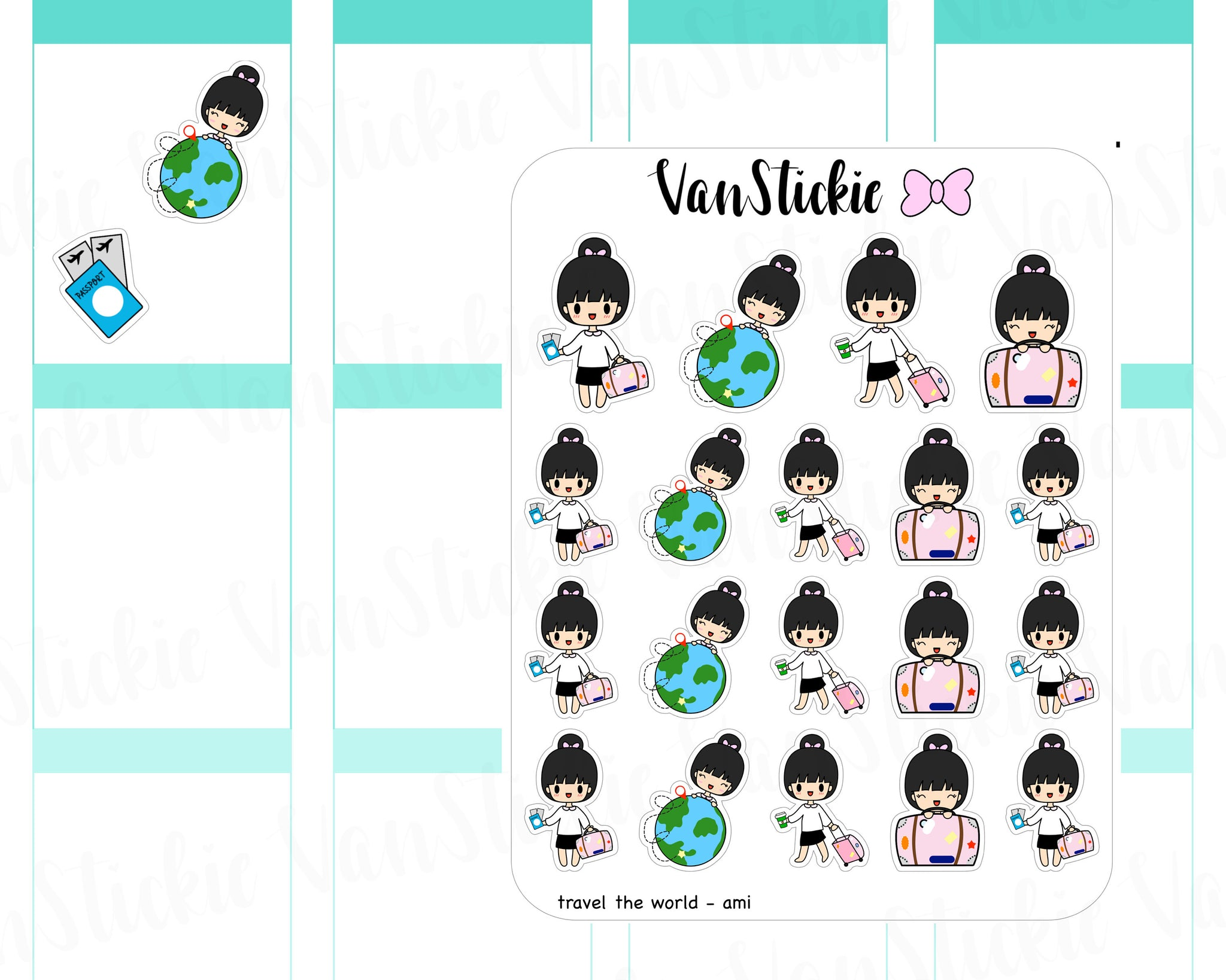 VSC 033 | Chibit - Travel The World Planner Stickers