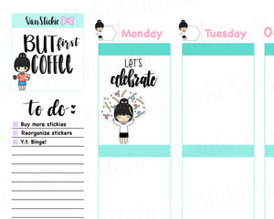 VSS 030 |Chibit Set - Time To Celebrate Planner Stickers