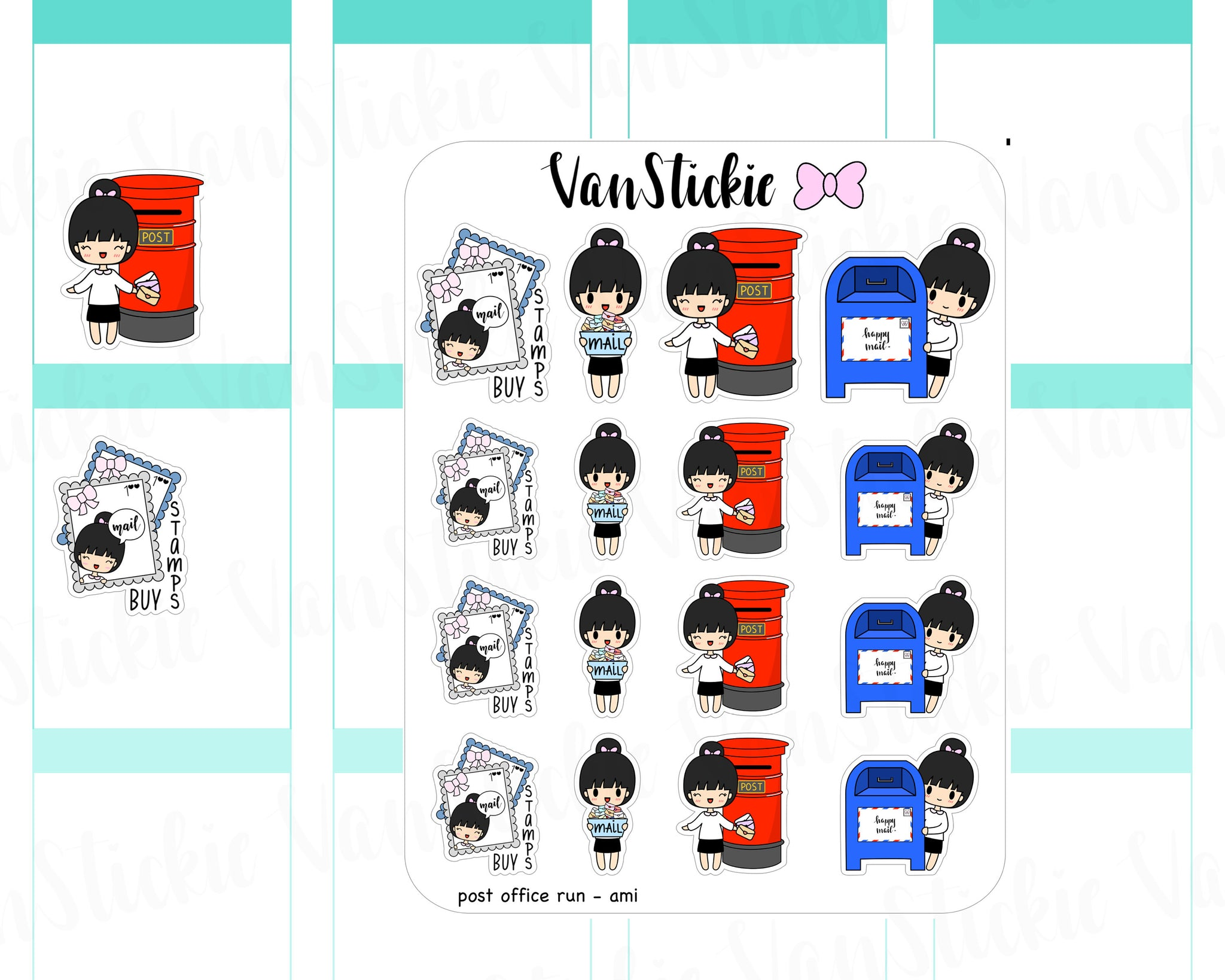 VSC 034 | Chibit - Post office Run Planner Stickers