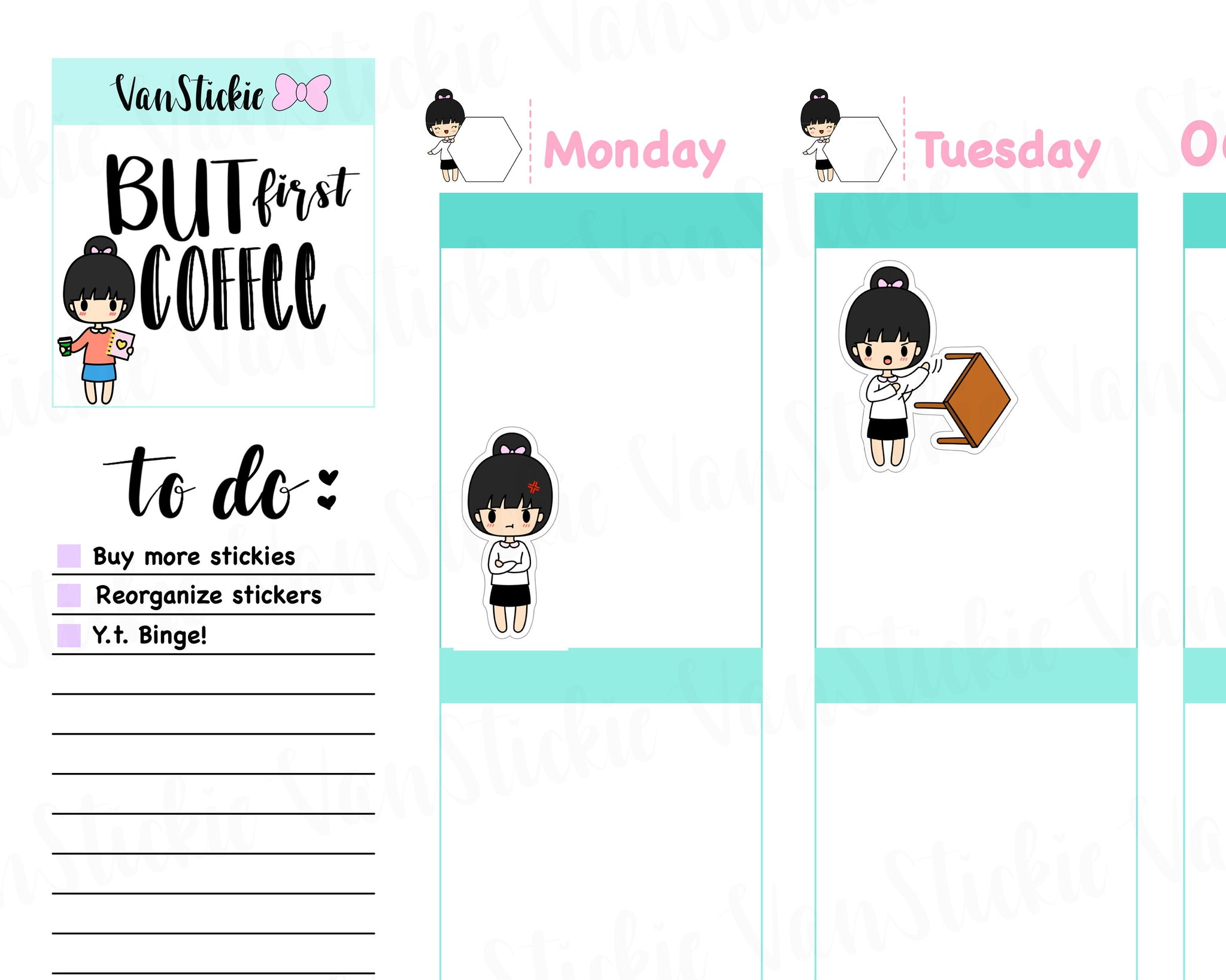 VSC 039 | Chibit - Anger Issues Planner Stickers