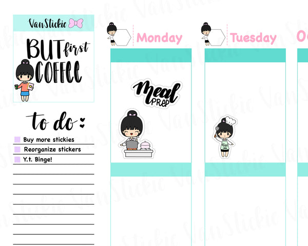 VSS 034 |Chibit Set - Meal Time Planner Stickers