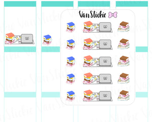 VSD 044 Doodle Set - Study Time Planner Stickers
