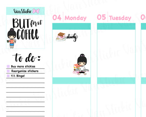VSS 036 | Chibits Set - Study Time Planner Stickers