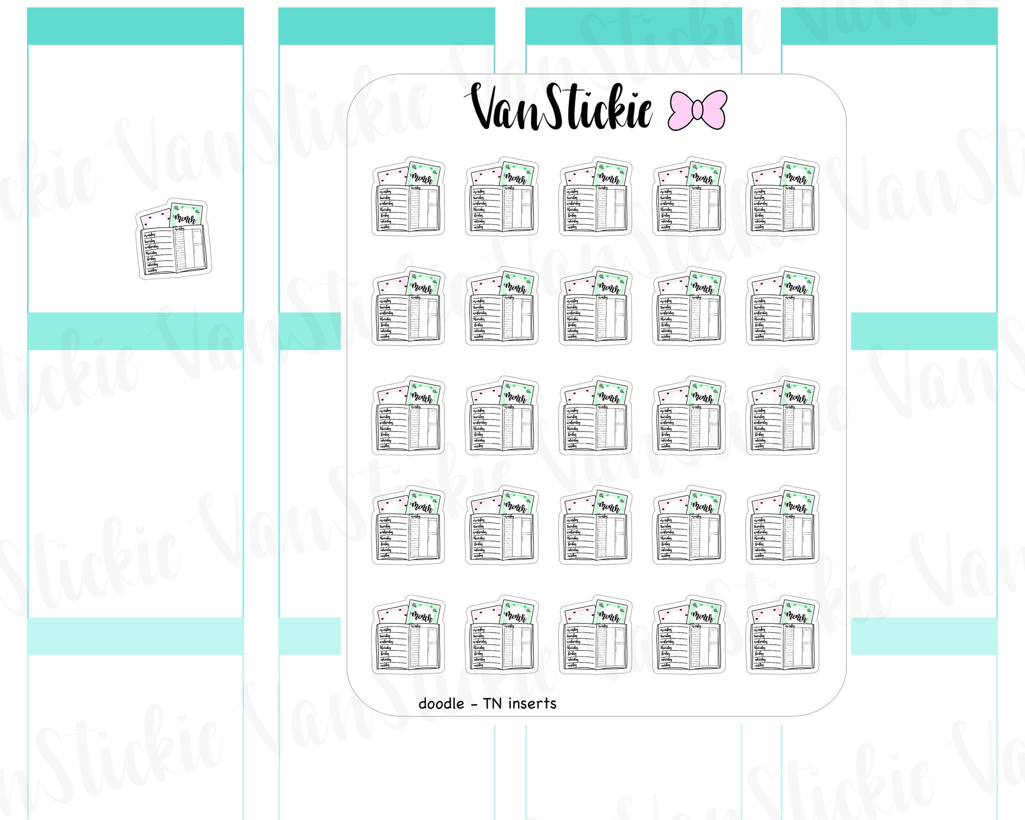 VSD 050| Doodle Set - TN insert Planner Stickers (inspired by AnniePlans.Printables)