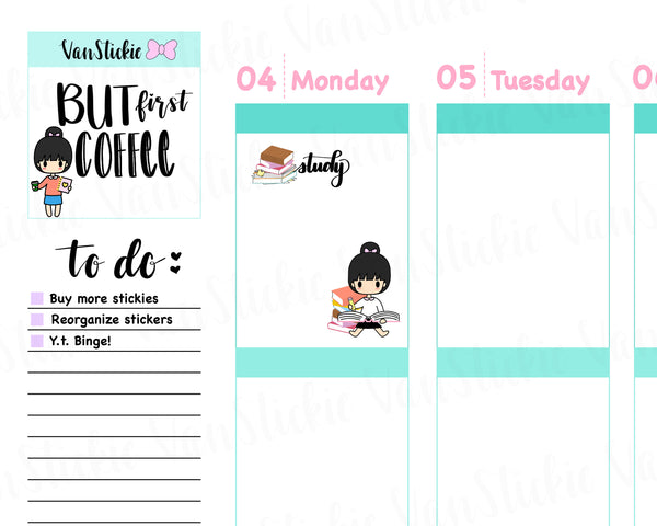 VSC 046 | Chibit - Study Time Planner Stickers