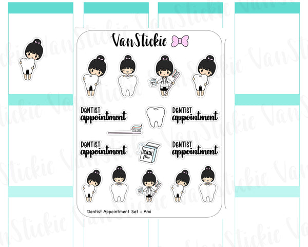 VSS 048 | Chibits Set - Dentist Appointment Planner Stickers