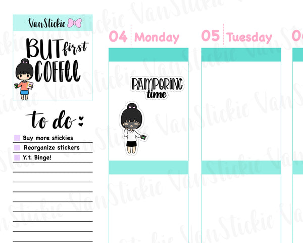 VSS 040 | Chibit Set - Face Mask Planner Stickers