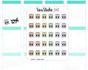 VSD 064| Doodle Set - Weigh in Planner Stickers