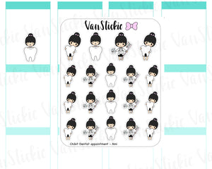 VSC 061 | Chibits -Dentist Appointment Planner Stickers