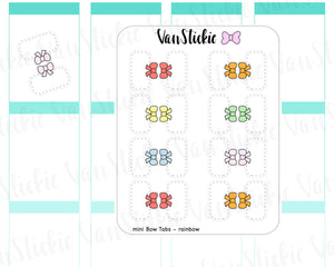 F009 - Cute mini bow Planner Tab Stickers